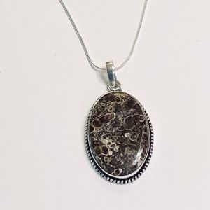 Picture From the Past Turritella Silver Necklace